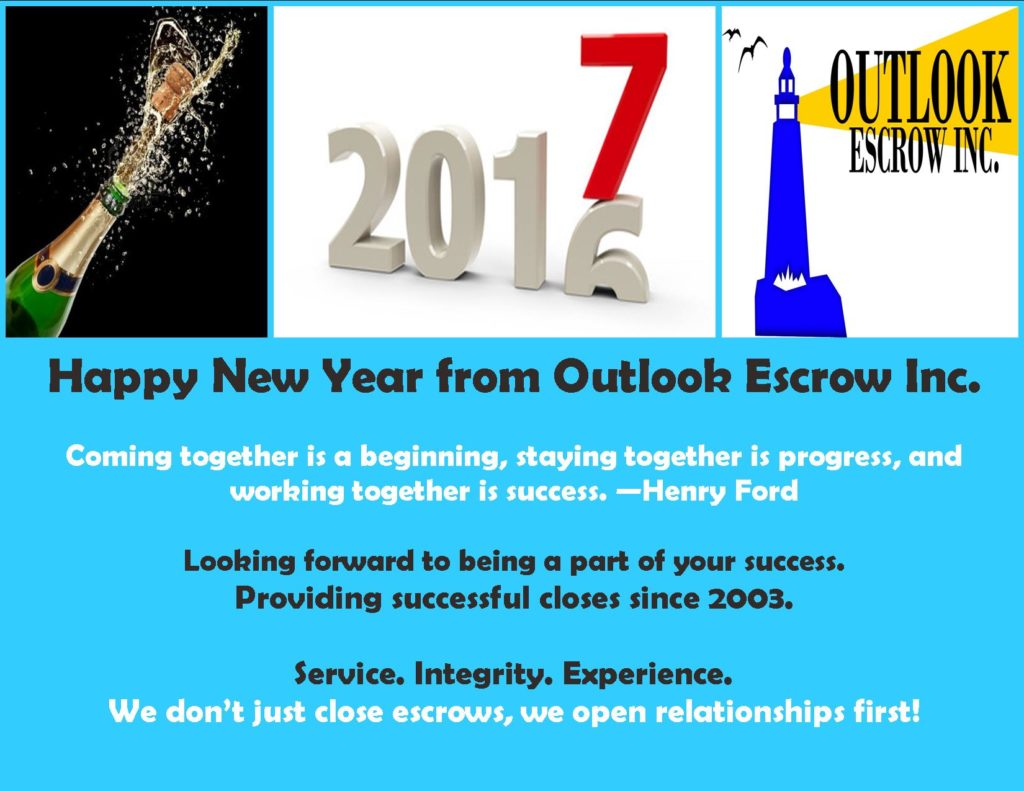 2017 Outlook Escrow